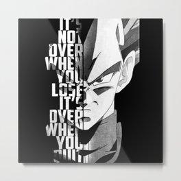 Vegeta Metal Print