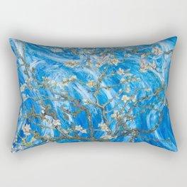 Vincent van Gogh Blossoming Almond Tree (Almond Blossoms) Windswept Rectangular Pillow