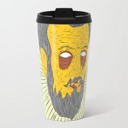 Nobleman Wearing Ruff Collar Grime Art Travel Mug
