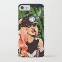 heavy metal iPhone & iPod Cases featuring Heavy Metal Lover by Helen Green