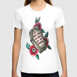 Funeral Tattoo Print T-shirt