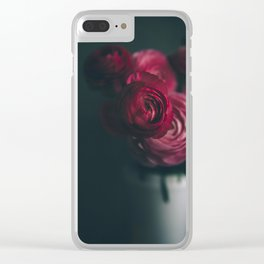 Red Ranunculus Clear iPhone Case