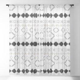 Tribal Boho Pattern Chic #1 #aztec #decor #art #society6 Sheer Curtain
