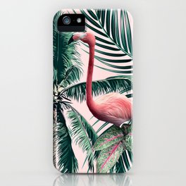 Flamingo tropics iPhone Case