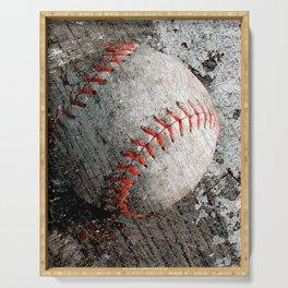 Baseball art Serving Tray