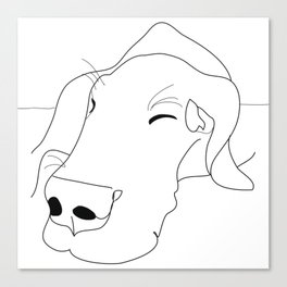 Great Dane Sketch Canvas Print