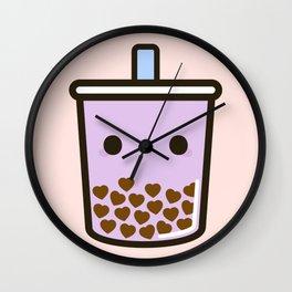 Cute Love Heart Bubble Tea Wall Clock