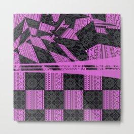 2in1 Pattern Mix, George,pink Metal Print