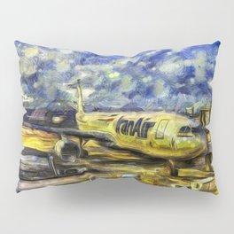 Iran Air Airbus A330 Art Pillow Sham