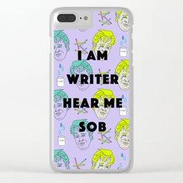 I am Writer, Hear Me Sob (Dawson Crying) Clear iPhone Case