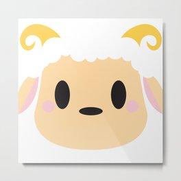 Sheep / Ram Block Metal Print