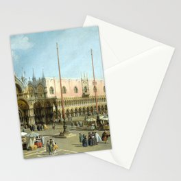 Giovanni Antonio Canal Piazza San Marco Stationery Cards
