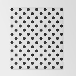 Polka Dots (Black & White Pattern) Throw Blanket