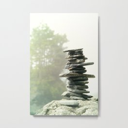 West Coast Inukshuk In A Summer Fog  #decor #society6 #buyart Metal Print