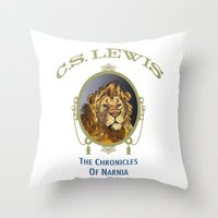 narnia Throw Pillows featuring The Chronicles of Narnia by Quigley Down Under