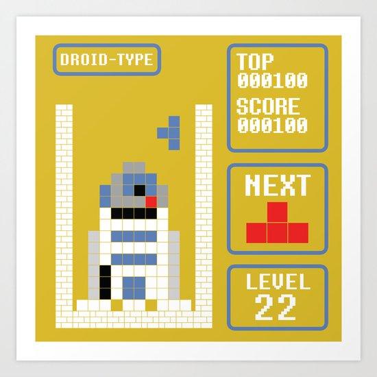 TETRIS: Droid Type Art Print