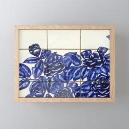 Portuguese tile 5 Framed Mini Art Print