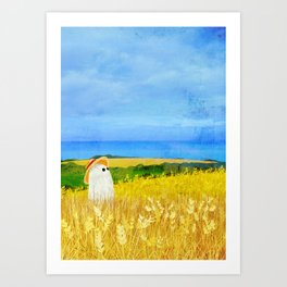 There's a Ghost in the Wheat Field Art Print