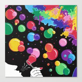 Bubbles colors the World !  Canvas Print