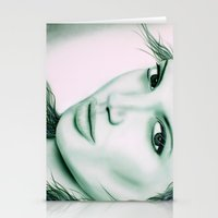 angelina jolie Stationery Cards featuring Angelina Jolie by Lucky art