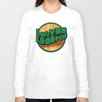 larry Long Sleeve T-shirts featuring Larry Legend by 3hreesUp