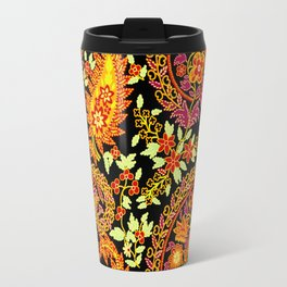 Paisley Design With Florals Travel Mug
