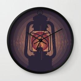 Oil lamp Wall Clock