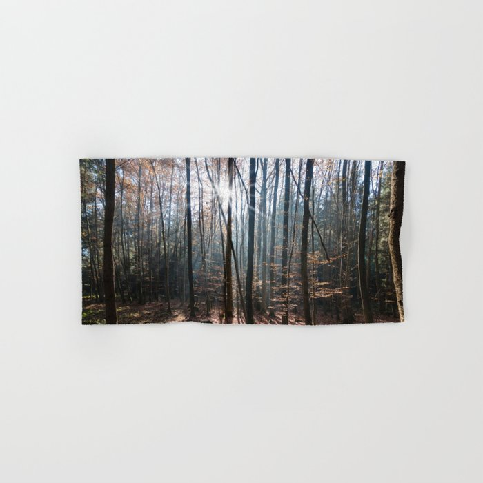 Light Shining in the Forest Hand & Bath Towel
