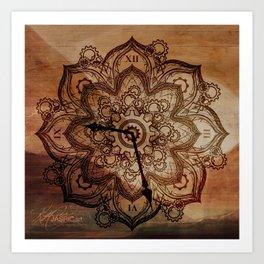 Clock Mandala Art Print