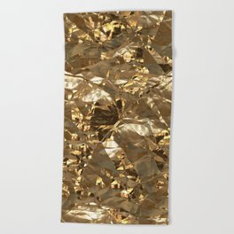 Gold Metal Beach Towel