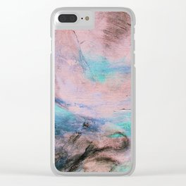 Modern Abstract Art Peaceful Landscape Clear iPhone Case