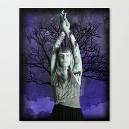 Ghoulish Glamour - The Nature Goddess Canvas Print