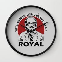 royal tenenbaums Wall Clocks featuring Royal Tenenbaum quotes by Buby87
