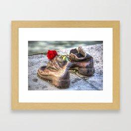 Shoes On The Danube Bank Framed Art Print