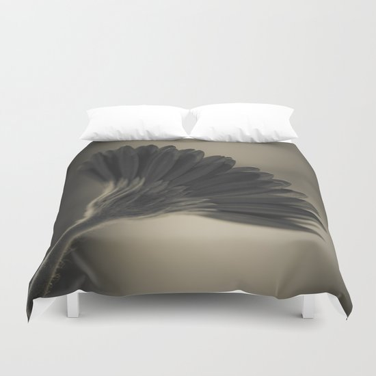 Gerbera black and white Duvet Cover