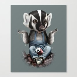 BADGER TAKES ALL Canvas Print