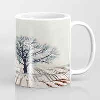 farm Mugs featuring Winter Farm by elle moss