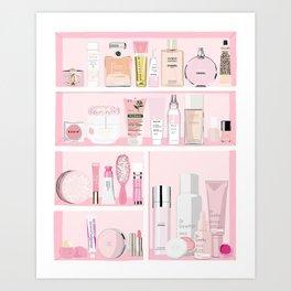 The Pink Medicine Cabinet Art Print