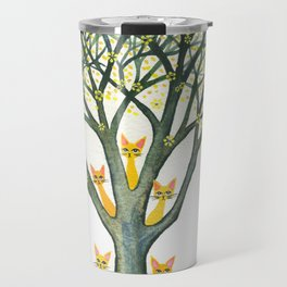 Odessa Whimsical Cats in Tree Travel Mug