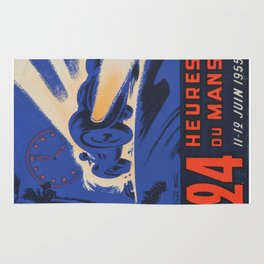 Le Mans 1955, 24hs Le Mans, 1955, original, vintage poster Rug