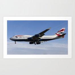 British Airways Boeing 747 Art Print