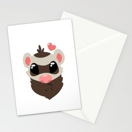 Sable Ferret Stationery Cards