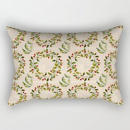 Baby it's Cold Outside typography Winter Wreath pattern Rectangular Pillow