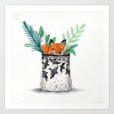 Fox Pot Art Print