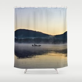 Fishing in the Morning Mist Shower Curtain