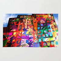 cityscape Area & Throw Rugs featuring cityscape by embee studio