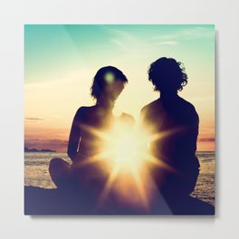 Sunset Lovers Metal Print