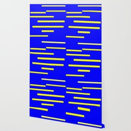 Bright Blue, Bright Yellow Graphic Design Wallpaper
