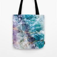 crystals Tote Bags featuring crystals  by lokyic