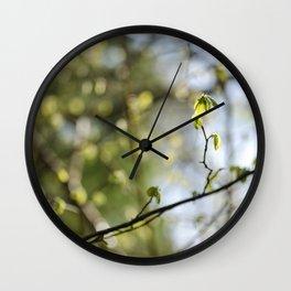 Nature's Bokeh Wall Clock